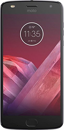 Motorola Moto Z2 Play XT1710-02 (32GB) Single-SIM GSM Verizon Locked (Lunar Gray) US Version (Certified Refurbished)