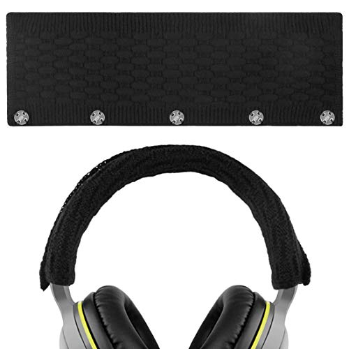 Geekria Headphone Headband Cover Replacement for Bose, AKG, Sennheiser, Sony, Beats, Audio-Technica Replacement Headbands Cover/Comfort Cushion/Top Pad Protector Sleeve (Black) ()