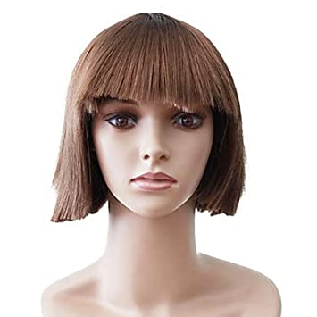 Amazon No Cover Short Straight Brown Of High Quality Synthetic