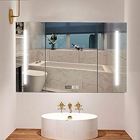 RKRXDH Mueble de baño Armario Baño/Cuarto De Baño Espejo con ...