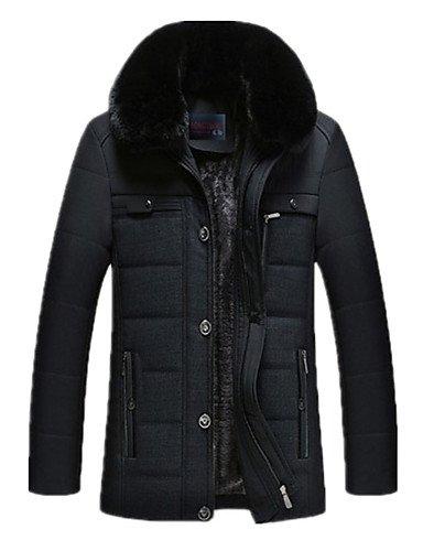 DFBVDF DGVFGBD Herren Gefüttert Mantel,Standard Übergröße Solide-Baumwolle Kunstseide Polypropylen Langarm