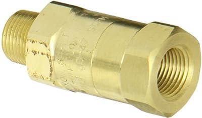 "Dixon Valve SCVM3 Brass Safety Check Valve, 3/8"" NPT Male x 3/8"" Hose ID Barbed, 39-47 SCFM Flow by Dixon Valve & Coupling"