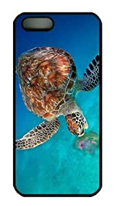 iphone 5 5s Case, Sea Turtle 06 Case for iphone 5 5s Hard Plastic PC Material Black