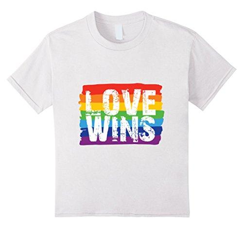 Kids Love Wins T-Shirt- LGBT Shirt, Lesbian Pride, Rainbow Pride 6 White by by Gay Pride Shirts Inc (Image #2)