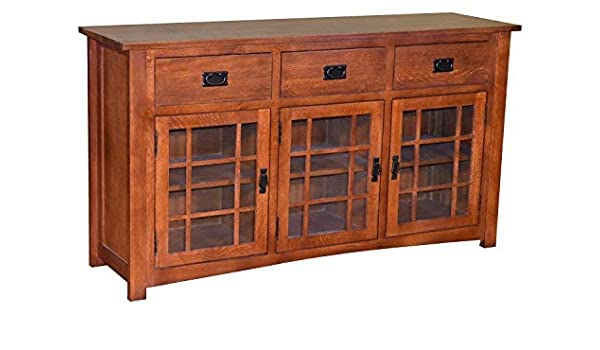 best cheap ab38e ff8c3 Amazon.com: Mission Style Solid Oak TV Stand/Craftsman Style ...