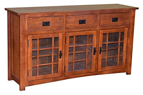 Mission Style Solid Oak TV Stand/Craftsman Style Oak Sideboard (Weavers Amish Furniture)