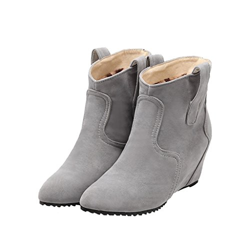 Dear Time Spring/Autumn Ankle Boots For Women Grey njNsciYyk