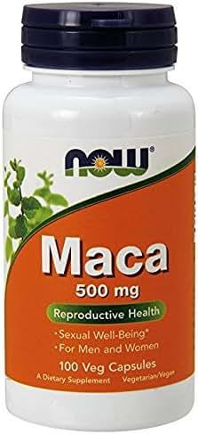 NOW Foods Maca 500 mg - 100 Veg Capsules Pack of 3