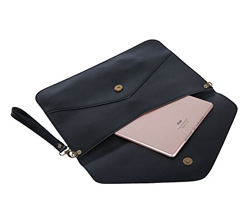 Bag Womdee Envelope Women's Accessory TM Shoulder Hand Handbag Purse Elegant With Lady's Black Clutch Tote Chain 7rq7Uw
