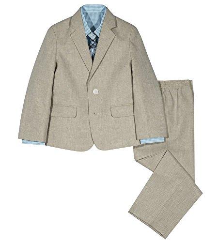 (Izod boys 4-Piece Suit Set with Dress Shirt, Tie, Pants, and Jacket, Nafpak Blue,)