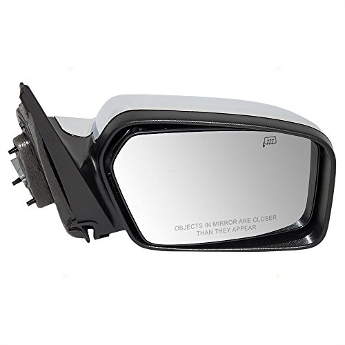 Passengers Power Side View Mirror Heated Memory Puddle Lamp Black Base w/Chrome Cover Replacement for Lincoln 6H6Z17682B -