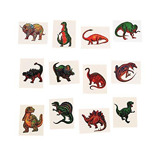 Fun Express Dinosaur Temporary Tattoo Stickers - 72 Pieces -