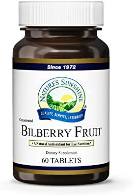 Nature's Sunshine Bilberry Fruit Concentrate 60 Tablets
