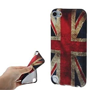 New Case for Apple iPod Touch 5 5th Lovely Slim TPU Silcone Gel Skin Flexible Cover-Uk Flag(With 2 PCS Gift Sticker)