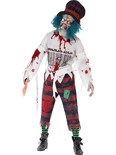 Smiffys Men's Zombie Hatter Costume