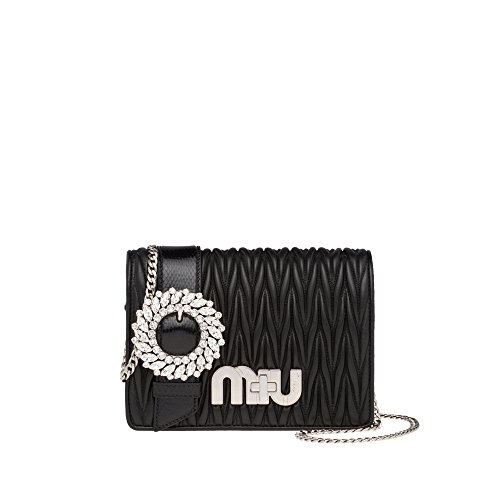 Miu Miu Black Bag (Miu Miu Women's 5Bf0682ajbf0002 Black Shoulder Bag)