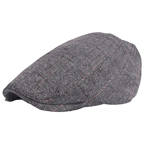 BABEYOND 1920s Gatsby Newsboy Hat Cap for Men Gatsby Hat for Men 1920s Mens Gatsby Costume Accessories (Gray-1, -