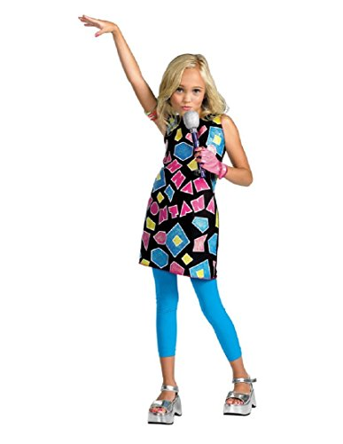 Hannah Montana Geometric Shapes Costume Dress Size 4-6X by Disguise ()