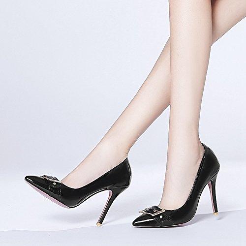 Su Abito Tacco Chiusa Nero Estraibile Tacco Dello Aguzzi Stiletto Sexy Scarpa Alto Sandali Pompe Donne Punta Btrada Tendenza zq4wpw