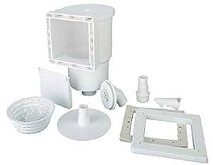 Gre AR100 - Skimmer para Piscina Estándar + Válvula de Impulsión, Color Blanco: Amazon.es: Jardín