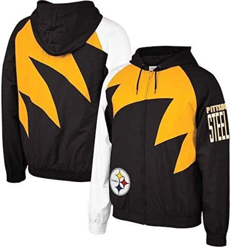 NFL Pittsburgh Steelers Women/'s Fashion Black Soft Shell Full Zip Winter Jacket