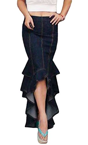 AvaCostume Womens Flouncing Fishtail Skirts