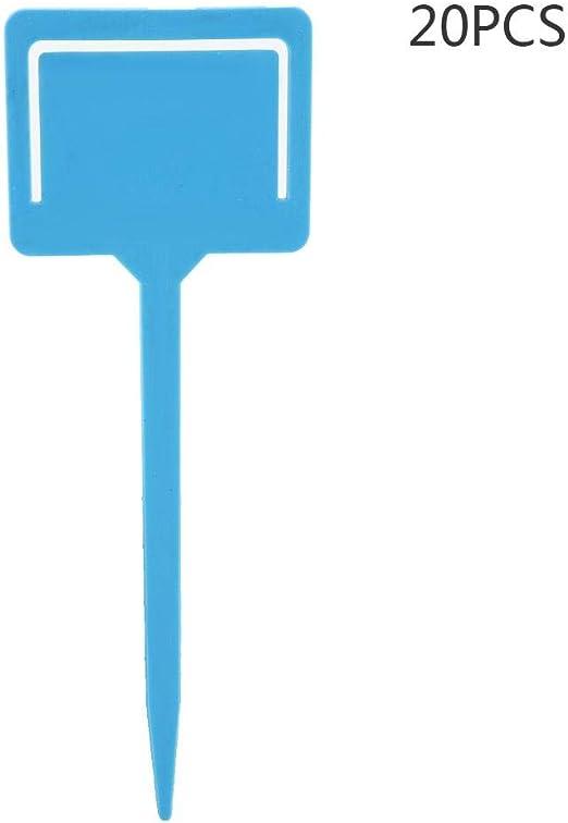 TOPINCN 20PCS Etiquetas Plantas PVC Impermeable Reutilizable Jardinería Flor Planta Etiqueta Macetas Etiquetas Jardín Semilla Estaca Herramienta(Azul): Amazon.es: Jardín