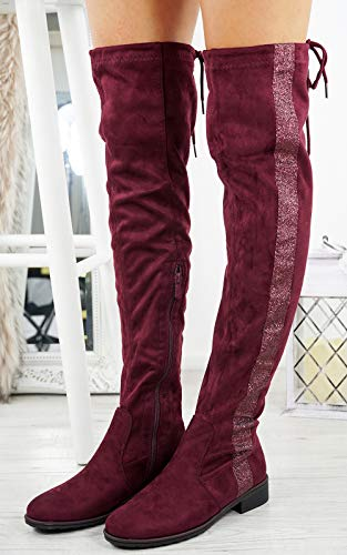 Cuissardes Bottes Fashion Cucu Bordeaux Femme gqv0Anpxw