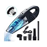 Hand Vacuum Cordless, Leyeet 120W Powerful Portable Hand-Held Dustbuster Wet &Dry Rechargeable Vac