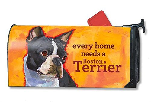 Mailwraps Boston Terrier Dog Magnetic Mailbox Cover