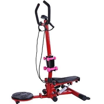 Soozier aeróbico Cintura Twister/Stepper Fitness máquina w/Mancuernas: Amazon.es: Deportes y aire libre