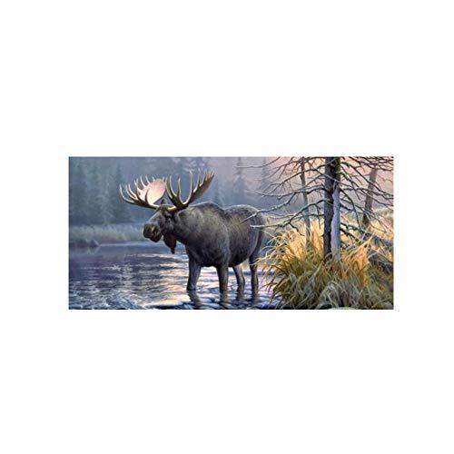 Walmeck Car Sticker Moose Forest Rear Window Graphic Decal for Car Truck SUV 13536cm