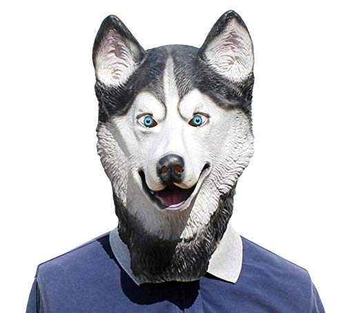 Animal Head Husky Dog Horse Snow Leopard Dog Full Face Mask Halloween Party Festival Cospaly Masquerade Fancy Dress Party Cosplay Costume -