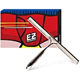 Celganic EZ Squeegee Stainless Steel 10 Inch Silicone Blade with Two Holders. for Shower, Glass Door, Window, Car. Durable Rust-Free Stainless Steel. Easiest Cleaner in Bathroom, Home, Business.