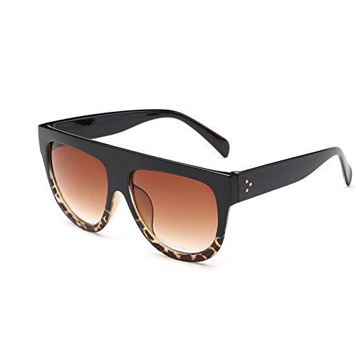 Modo Frauen Gradienten Marrón Verde De Lujo Vintage Sonnenbrille KXLEB Marrón Gesicht Tonos Sonnenbrille Rojo Negro Runde Platz T0HEXnUq