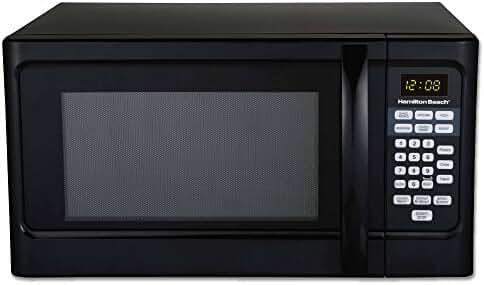 Hamilton Beach P100N30AL 1000 Watts 1.1 cu. ft. Countertop Microwave Oven Black (Certified Refurbished)