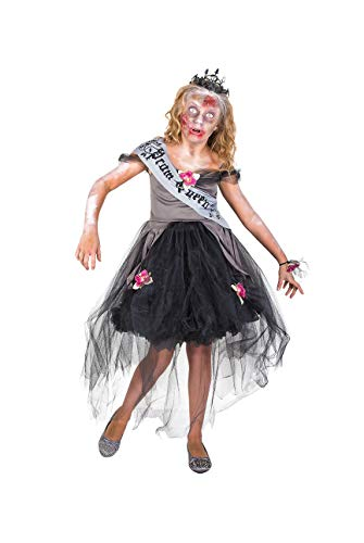 Girl's Zombie Prom Queen Costume, for Halloween Party Accessory, Small