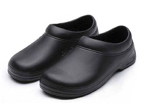 Image of INiceslipper Unisex Chef Shoes Non-Slip Safety Shoes Oil Water Resistant Casual Flats Shoes for Men and Women (6.5 US/9.5