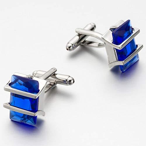 Da.Wa Elegant Blue Crystal Square Cuff Links Men's Business Wedding Shirt Cufflinks Accessories by Da.Wa (Image #8)
