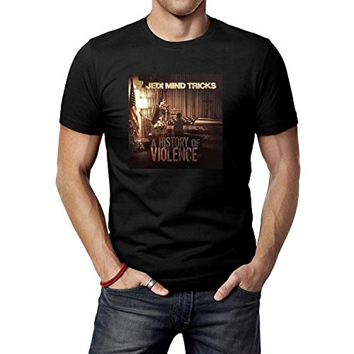 HUANGQINF Men's Black Jedi Mind Tricks A History of Violence T-Shirt Tee Shirt
