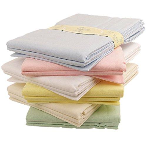 Baby flat sheets x 2 flannelette moses basket pram crib WHITE Bee Bo