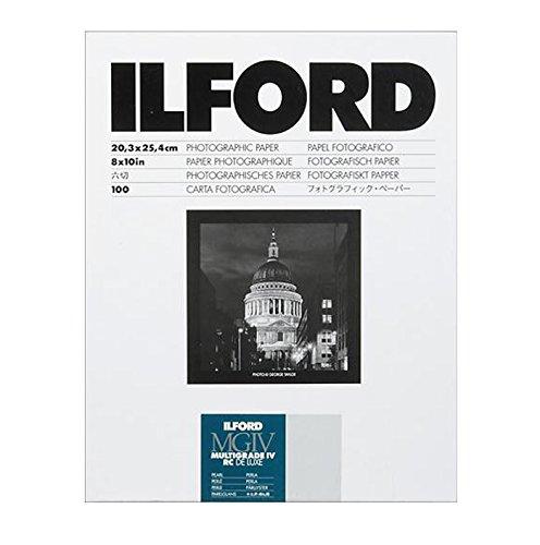 Ilford B&W Paper 8X10 Multigrade IV 100 Pack (Pearl) (Photo Paper Black And White)