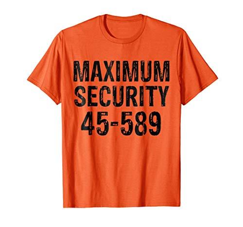 Halloween Maximum Security Inmate Prisoner Costume T-shirt]()