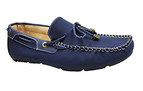 Mocassini uomo blu casual man's shoes scarpe basse estive top quality