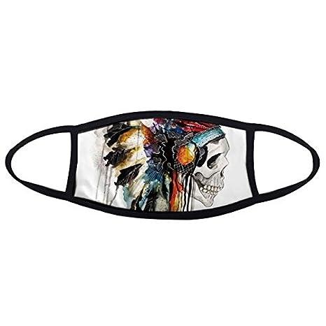 DIYthinker Fear - Máscara antipolvo con diseño de calavera, diseño indio: Amazon.es: Deportes y aire libre