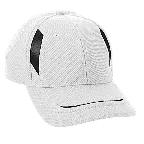 (Augusta Sportswear Kids' Adjustable Wicking MESH Edge Cap OS White/Black)