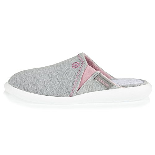 Chaussons Mules Femme légers Isotoner Gris Ultra gdpqgw