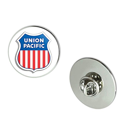 Nyc Jewelers Shield Shaped Union Pacific Railroad  Rr Railway Rail Logo  Metal 0 75  Lapel Hat Pin Tie Tack Pinback