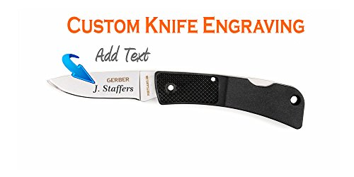 Custom Laser Engraved Gerber LST Ultralight Fine Edge Knife