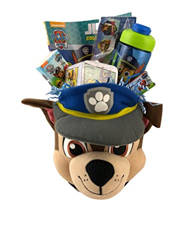 - Paw Chase Plush Gift Basket for Boys Birthday Premade with Toys Games Activity